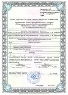 licenziya prilogenie